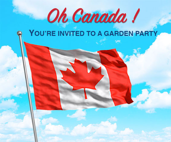 Oh Canada! You're invited to a garden party.